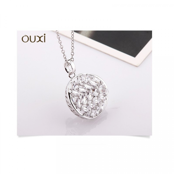 Ouxi - 11111-1 - Collier orné de cristaux SWAROVSKI ELEMENTS Blanc