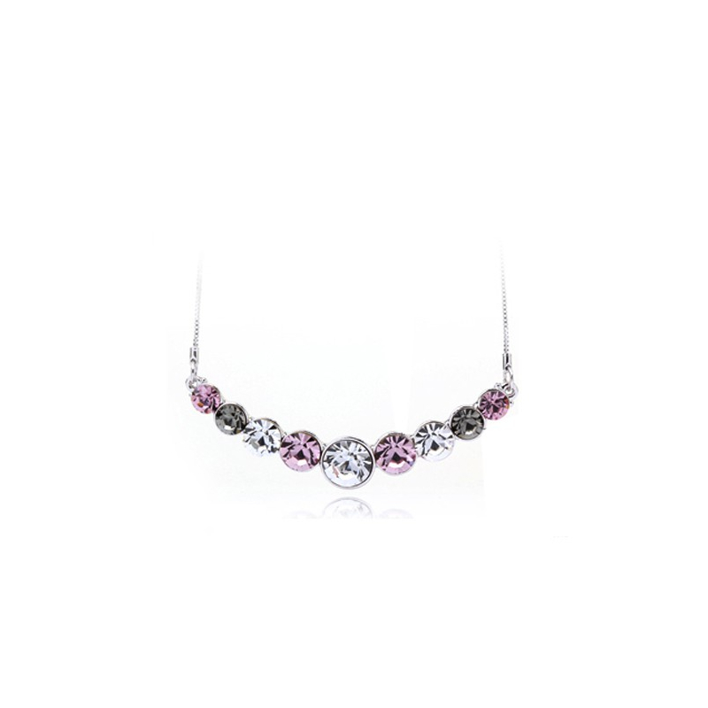 Ouxi - 10005-1 - Collier orné de cristaux SWAROVSKI ELEMENTS Rose