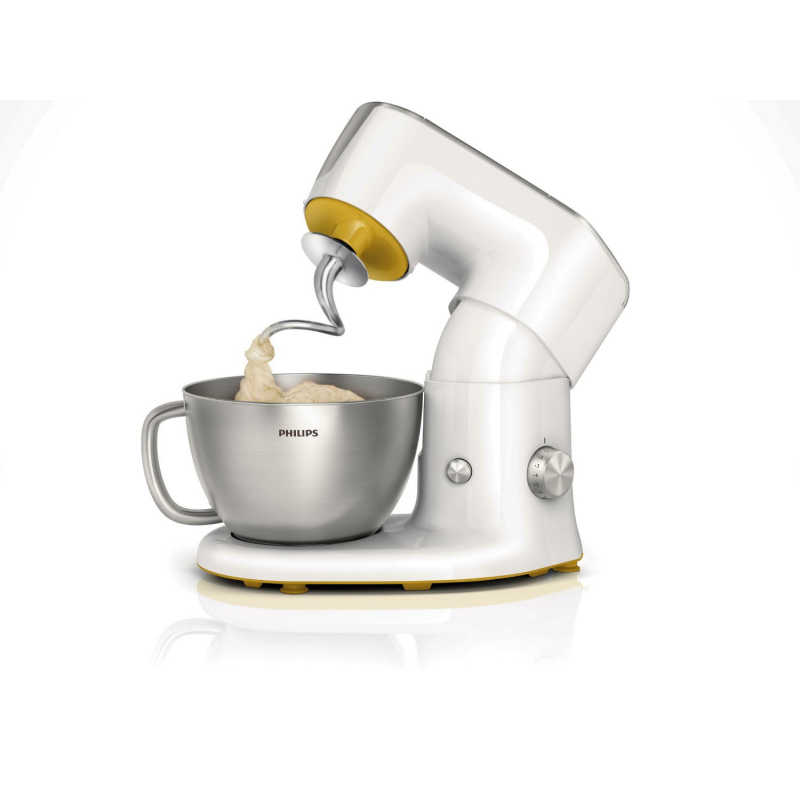 Philips - HR7954/00 - Kitchen Machine Blender/Kit Pâtisserie/Robot Multifonction/Presse-Agrumes Blanc/Gris Métallisé 4 L