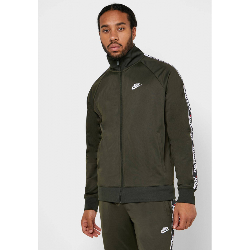 Veste De Survêtement Pour Homme Nike Just Do It Tape Kaki - CJ4782-355