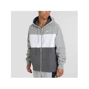 Sweat À Capuche Fleece Pour Homme Nike Air Gris/Blanc - CJ4819-063